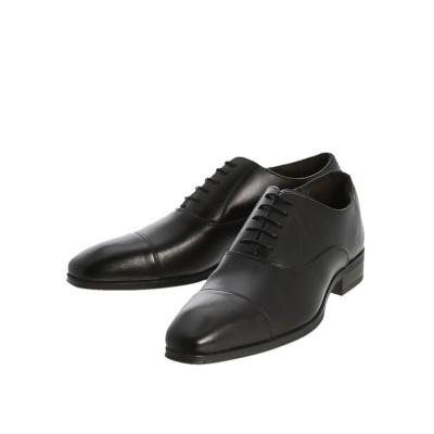 【タカキュー】 アラウンドザシューズ/around the shoes 内羽根ストレートチップビジネスドレスシューズ メンズ ブラック 41.0 TAKA-Q