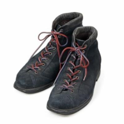 サントーニ SANTONI マウンテンブーツ UK7 ネイビー スエード イタリア製 メンズ 靴 革靴 紳士靴 【中古】