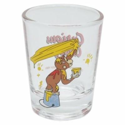 おさるのジョージ ショットグラス ミニ ガラス タンブラー 絵の具 イエロー 絵本キャラクター グッズ