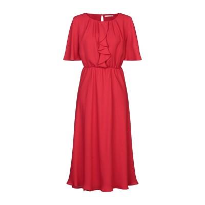 PAOLA PRATA 7分丈ワンピース・ドレス レッド M レーヨン 52% / ポリエステル 48% 7分丈ワンピース・ドレス