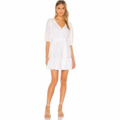 ワンステート 1. STATE レディース ワンピース ワンピース・ドレス Cotton Eyelet Tie Waist Dress Ultra White