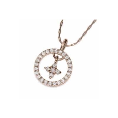 天然ダイヤモンド ペンダント ネックレス クロス十字架 k10ピンクゴールド 4月誕生石