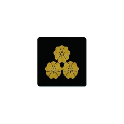 家紋シール 三つ盛り剣片喰紋 24cm x 24cm KS24-1447