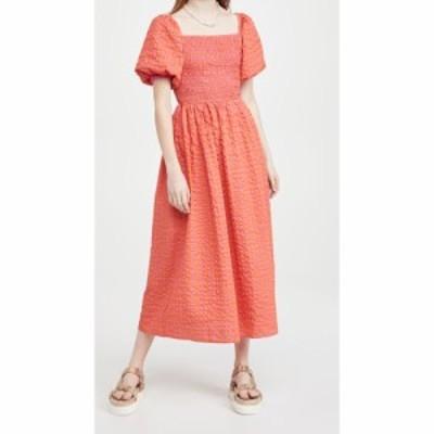 ネバーフリードレス Never Fully Dressed レディース ワンピース ミドル丈 ワンピース・ドレス Orange Gingham Midi Dress Orange