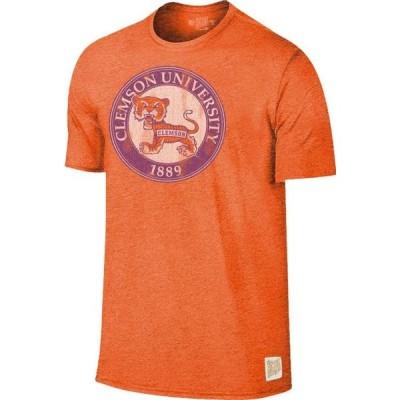 メンズ スポーツリーグ アメリカ大学スポーツ Original Retro Brand Men's Clemson Tigers Orange Mock Twist T-Shirt Tシャツ
