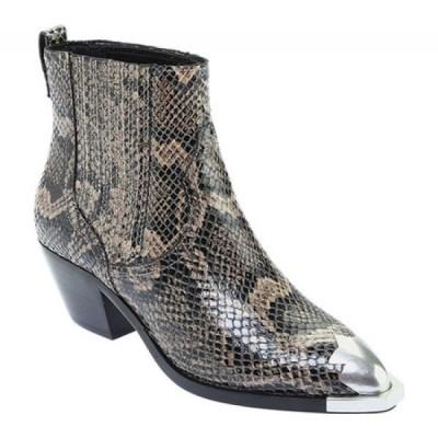 アッシュ ASH レディース ブーツ シューズ・靴 Floyd Chelsea Bootie Taupe Python Print