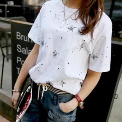 Tシャツ 半袖 星 メタリック