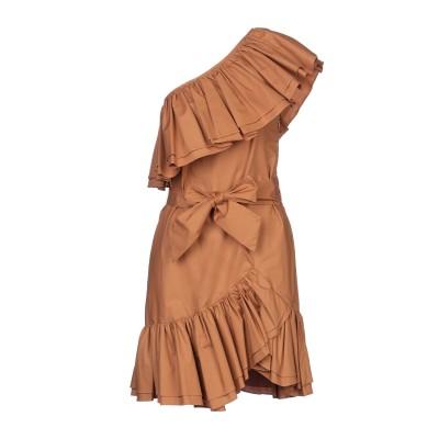 WEILI ZHENG ミニワンピース&ドレス サンド XS コットン 100% ミニワンピース&ドレス