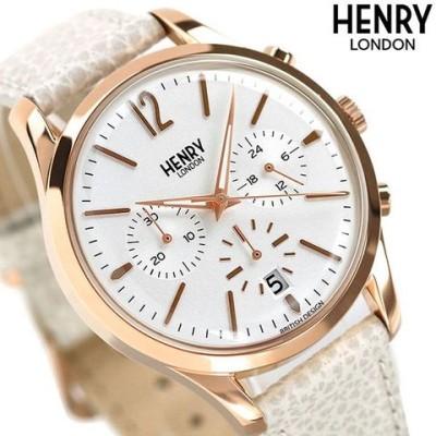 ヘンリーロンドン HENRY LONDON クロノグラフ ピムリコ 39mm メンズ 腕時計 HL39-CS-0442 ホワイト