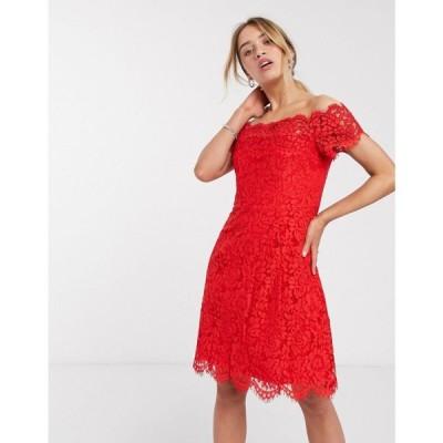 ホイッスルズ Whistles レディース ワンピース ワンピース・ドレス Whilstes Off Shoulder Lace Dress レッド