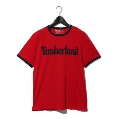 Timberland[メンズ] (ティンバーランド) AF TFO SS Linear Logo T BARBAD Barbados Cherry L