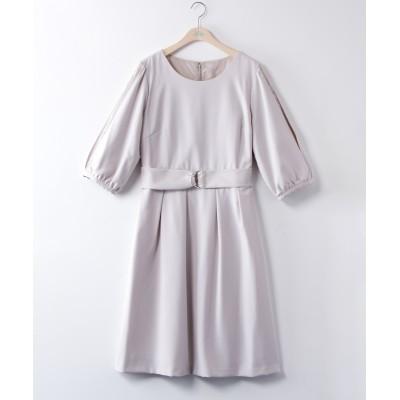 大きいサイズ 袖レース切替ワンピース ,スマイルランド, ワンピース, plus size dress