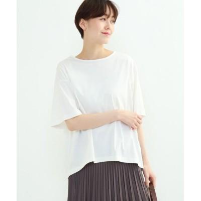 (INDIVI/インディヴィ)フレアスリーブルーズTシャツ/レディース ホワイト(001)