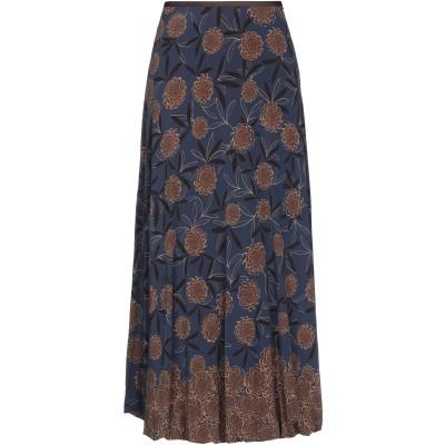 SIYU ロングスカート ダークブルー 38 レーヨン 95% / ポリウレタン 5% ロングスカート