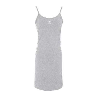 ADIDAS ORIGINALS ミニワンピース&ドレス グレー 30 コットン 93% / ポリウレタン 7% ミニワンピース&ドレス