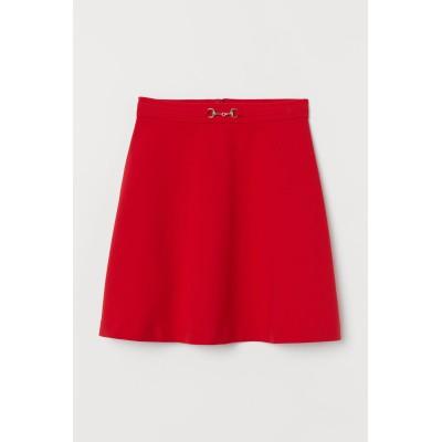 H&M - フレアスカート - レッド