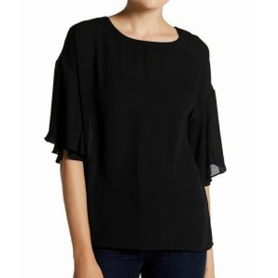 ファッション トップス Catherine Malandrino Womens Black Size Small S Crewneck Blouse