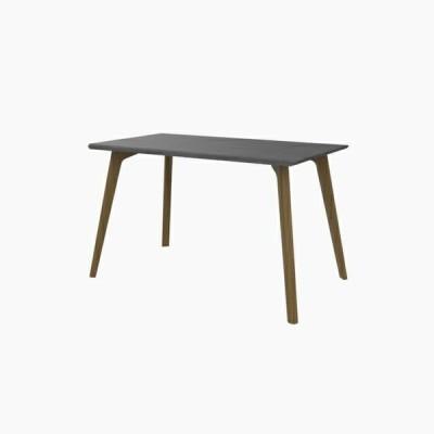 送料無料 ダイニングテーブル (W1200 天板:ミッドグレー 脚:ホワイトオーク) - CROSS