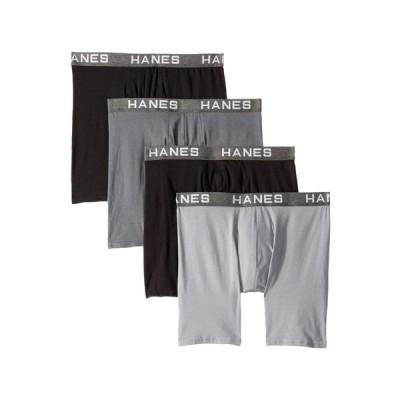 ヘインズ Hanes メンズ ボクサーパンツ インナー・下着 Platinum Comfortflex Fit Boxer Briefs Black/Grey