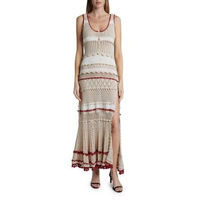 アルチュザラ レディース ワンピース トップス Crochet Striped Dress