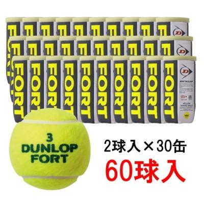 ダンロップ FORT フォート 2球×30缶 60球 DFEYL2CS60 硬式テニス プレッシャーボール DUNLOP