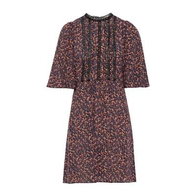 VANESSA BRUNO ミニワンピース&ドレス ブラック 36 シルク 100% / コットン ミニワンピース&ドレス