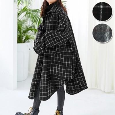 春新作 アウター コート レディース シャツ ジャケット チェック ロング 長袖 大きいサイズ ゆったり トップス^jk113^