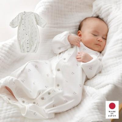 日本製 新生児 服 Anna Nicola プリント2WAYオール ベビー服 赤ちゃん 出産準備 長袖 かわいい おしゃれ