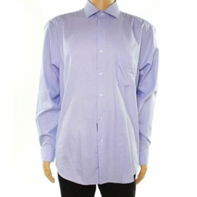 Alfani  ファッション ドレス Alfani NEW Blue Mens Size 15 1/2 Textured Regular Fit Dress Shirt