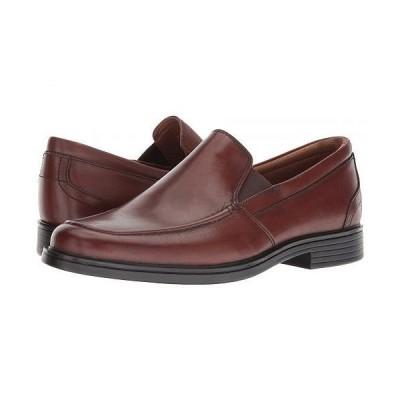 Clarks クラークス メンズ 男性用 シューズ 靴 ローファー Un Aldric Slip - Dark Tan Leather