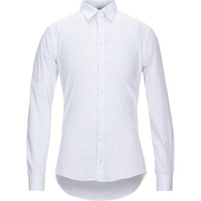 エクステ EXTE メンズ シャツ トップス solid color shirt White