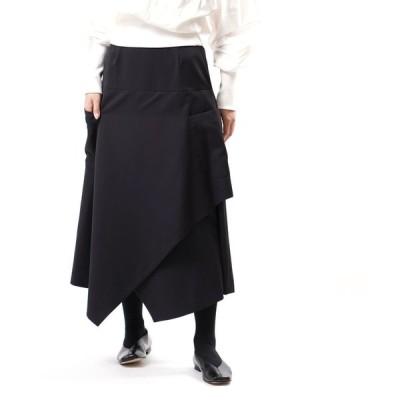 リムアーク デザインスカート 変形スカート フレアスカート Random hem twill SK ランダムヘムツイルスカート RIM.ARK 2020秋冬新作 レディース 国内正規品