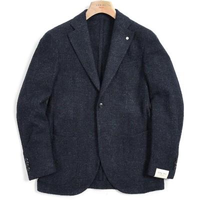 L.B.M. 1911 テーラード ジャケット 2Bシングル ノッチドラペル 秋冬 ウール ネイビー