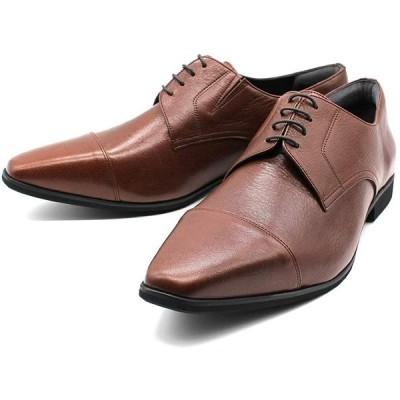 [KOBE STRONG MEN] 神戸ストロングメン ビジネスシューズ 本革 レザー 日本製 ストレートチップ メンズ 革靴 4EEEE 甲高 幅広