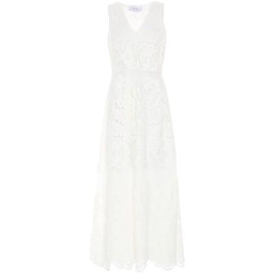 カオス KAOS ロングワンピース&ドレス アイボリー 48 ナイロン 65% / コットン 35% ロングワンピース&ドレス