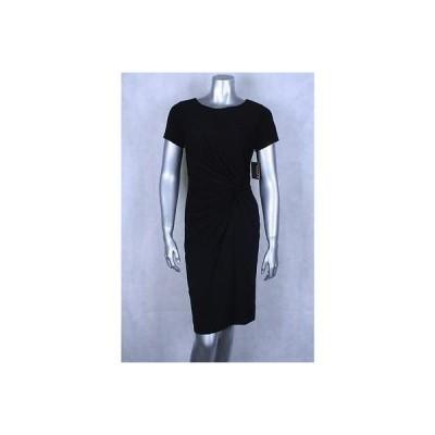 エレントレイシー ドレス ワンピース フォーマル Ellen Tracy ブラック 半袖 Side Knot Sheath ドレス サイズ XS 99 LAFO