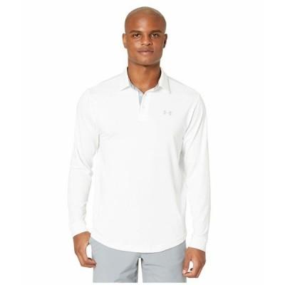 アンダーアーマー シャツ トップス メンズ Long Sleeve Playoff 2.0 Polo White/Mod Gray
