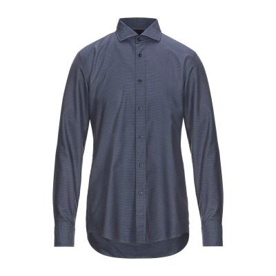 BOSS HUGO BOSS シャツ ダークブルー 45 コットン 100% シャツ