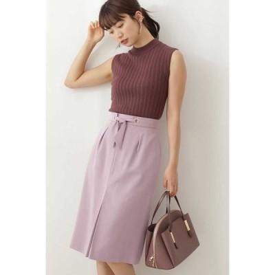 PROPORTION BODY DRESSING / プロポーションボディドレッシング  ◆ウエストリボンカラーツイルタイトスカート