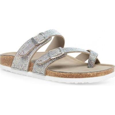 マッデン ガール Madden Girl レディース サンダル・ミュール シューズ・靴 Bryceee Footbed Sandals Iridescent Rhinestone