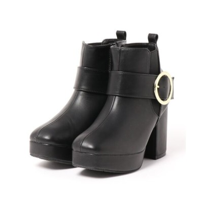 Mafmof / Realta(レアルタ) リングバックルサイドゴア厚底ショートブーツ WOMEN シューズ > ブーツ