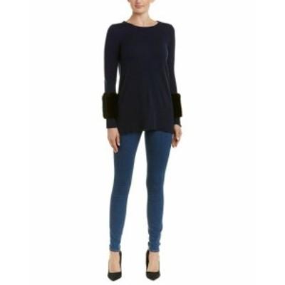 ファッション トップス Sofiacashmere Crew Cashmere Sweater S Blue