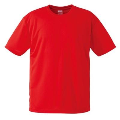 Tシャツ メンズ レディース 半袖 無地 赤 レッド s m l xl 2l xxl 3l xxxl 4l xxxxl 5l 大きいサイズ 丈夫 シャツ ユニセックス ポリエステル 吸水速乾 吸汗