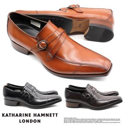 【サイズ交換1回無料 】キャサリンハムネット ビジネスシューズ 靴 革靴 紳士靴 メンズ 本革 スリッポン ベルトストラップ 31591
