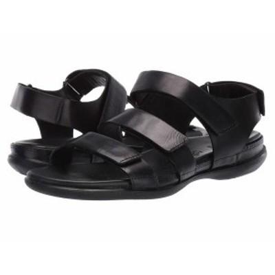 エコー レディース サンダル シューズ Flash Flat Sandal Black Cow Nubuck