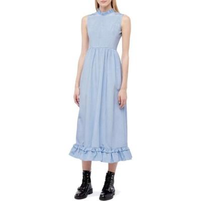 バットシェヴァ Batsheva レディース ワンピース ノースリーブ ワンピース・ドレス Sleeveless Spring Prairie Dress Blue Moire