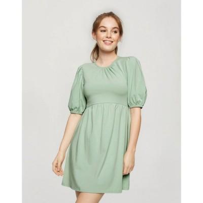 ミス セルフリッジ Miss Selfridge レディース ワンピース ワンピース・ドレス Miss selfridge smock dress in sage セージ