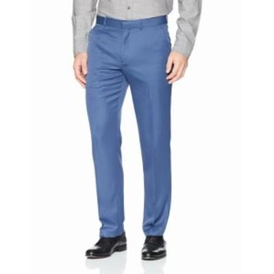 Perry Ellis ペリーエリス ファッション パンツ Perry Ellis NEW Blue Men 38X32 Straight Dress Flat Front Stretch Pants