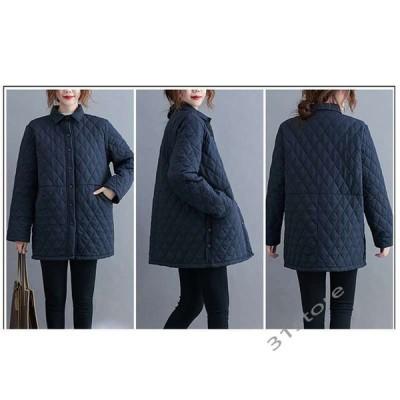 キルティングジャケットキルティングコートシャツコートジャケットキルティング中綿コート中綿ゆったりレディース軽量冬アウター