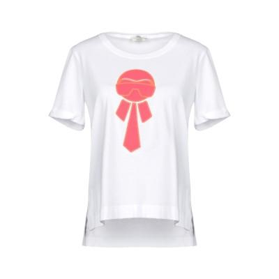 フェンディ FENDI T シャツ ホワイト 38 100% コットン T シャツ